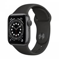 Apple Watch Series 6 40mm GPS Space Gray Aluminum Case with Black Sport Band