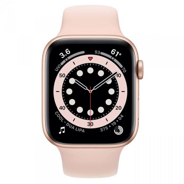 Часы Apple Watch Series 6, Размер корпуса 44 мм, GPS, Корпус из алюминия золотого цвета