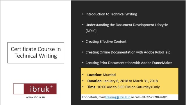 Mumbai: Certificate Course in Technical Writing