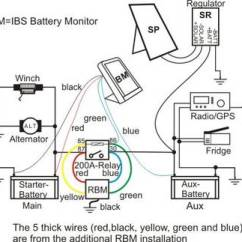 Tjm Ibs Dual Battery System Wiring Diagram Securitron Key Switch Relay Booster Modul Schematics Of Dbs With Rbm