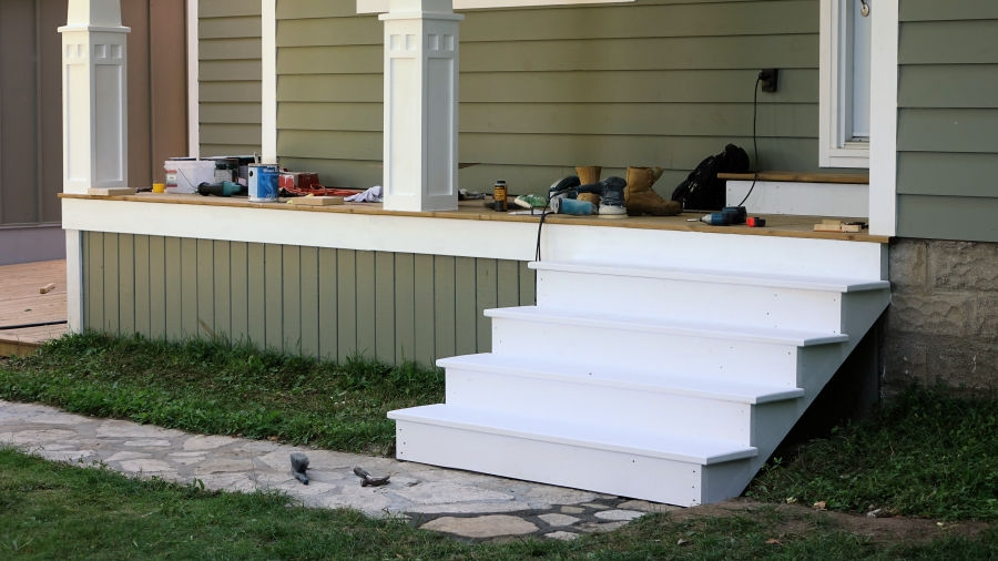 How To Make Porch Railings Ibuildit Ca | Wood Railing On Concrete Steps | Stair Railing | Diy | Wooden | Railing Mode | Staircase