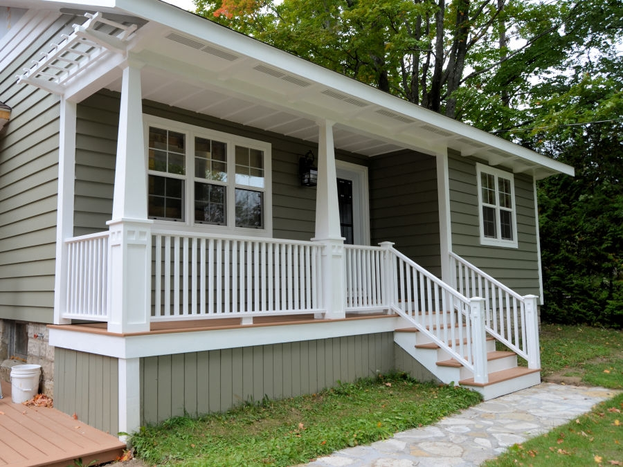 How To Make Porch Railings Ibuildit Ca | Craftsman Style Exterior Stair Railings | Step | Black Iron | Fence | Craftsman House | Outdoor