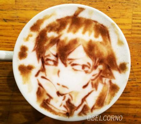 Oregairu_latte-art_Hachiman-Hikigaya_belcorno