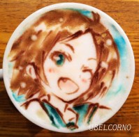 Oregairu_latte-art_Komachi-Hikigaya_belcorno