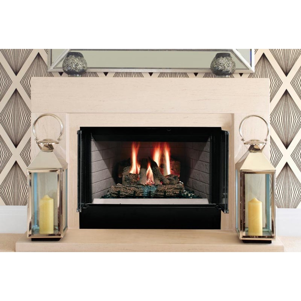 "Majestic Fireplaces Gas Fireplaces Majestic Sa36r Sovereign 36"" Radiant Wood Burning"