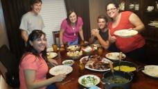 Cena anticipada de Acción de Gracias (con los Ray)