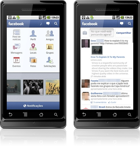 Facebook no Android