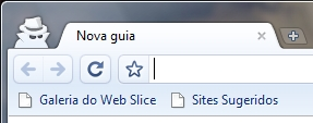 O modo incógnito do Google Chrome.