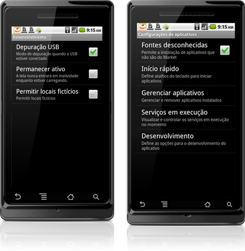 Aplicativo no Android