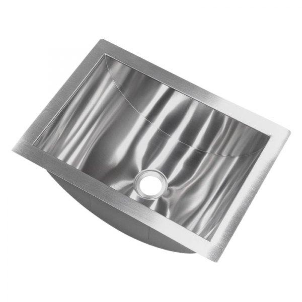 better bath 426017 stainless steel undermount rectangular lavatory sink 14 l x 10 w