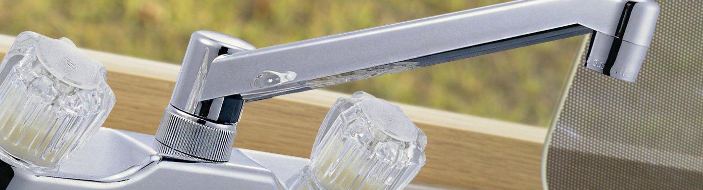rv kitchen faucets plastic brass