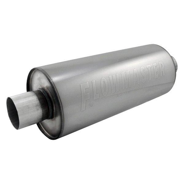 flowmaster dbx series stainless steel round laminar flow gray exhaust muffler