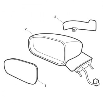 2001 Jeep Wrangler Side View Mirrors