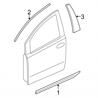 2008 Nissan Quest Replacement Window Components