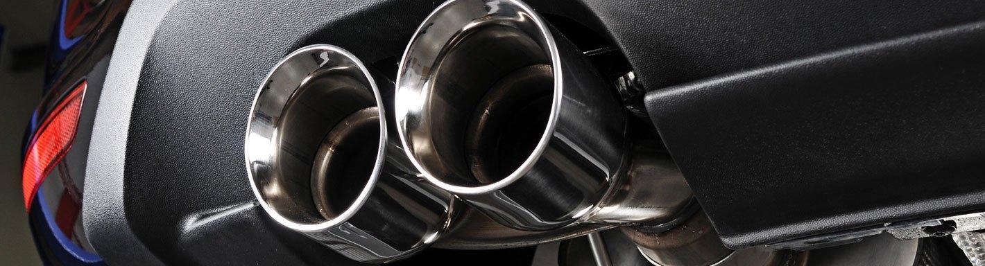mazda 3 exhaust tips rolled edge
