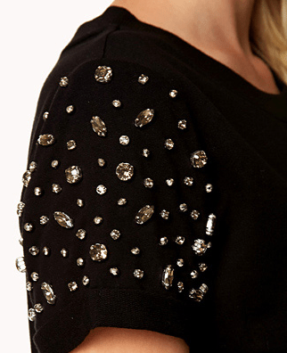 Bejeweled Pullover close