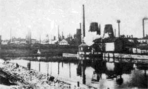Завод Донецко-Юрьевского металлургического общества в Алчевске. Нач