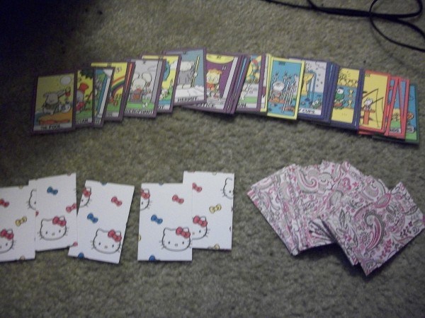 Hello kitty cards and stones