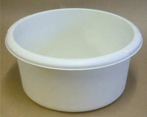 white wash bowl