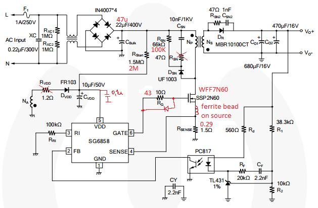 smps schematic diagram polo 9n wiring Опыт ремонта импульсного блока питания - glooch