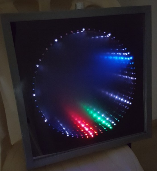 infinity mirror clock igrowing