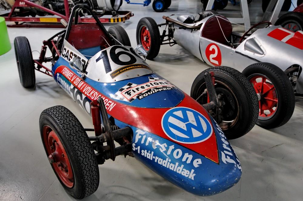 Гоночный автомобиль Volkswagen в Техническом музее Дании