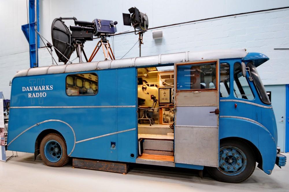 Передвижная телевизионная станция в Музее науки и техники в Эльсиноре