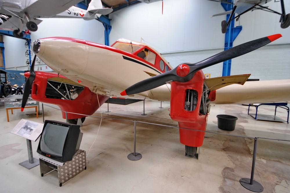 Самолет SAI KZ IV в Датском Техническом музее в Эльсиноре