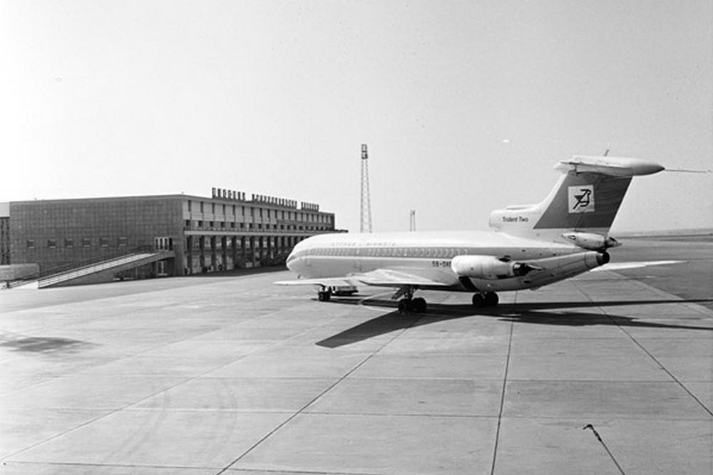 Самолет Trident в аэропорту Никосия. Архивное фото с сайта cyprusairports.com.cy