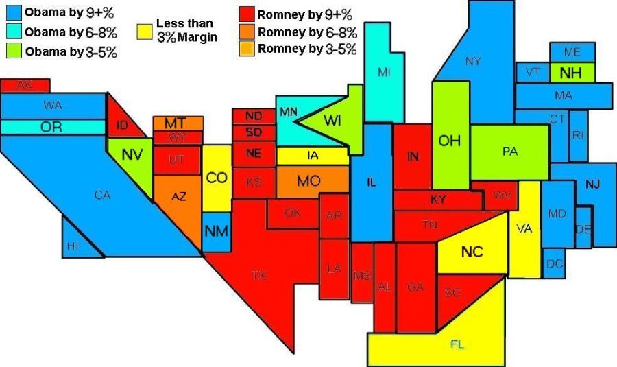 Electoral Map 11-5-12