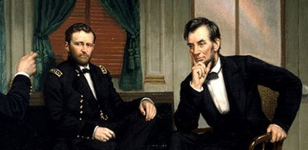 Image result for Photo of Lincoln and Grant