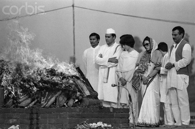 индира-похороны