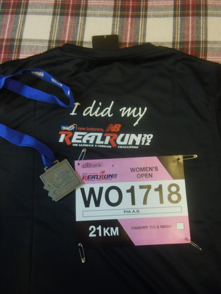 finisher shirt,medal and my bib