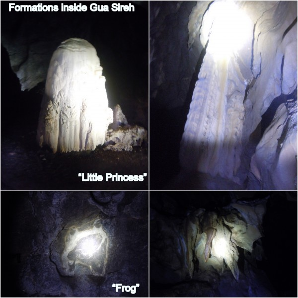 formations inside the cave
