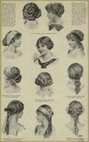 hairstyles 1910 - vintage ads