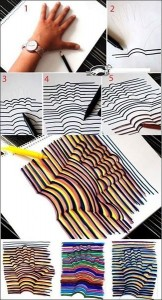 Рисуем оптическую иллюзию_рука
