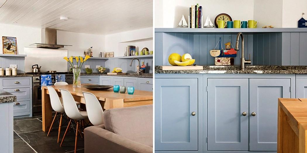 Una cocina azul grisaceo  Decorar tu casa es facilisimocom