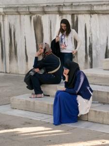 На ступенях Голубой мечети