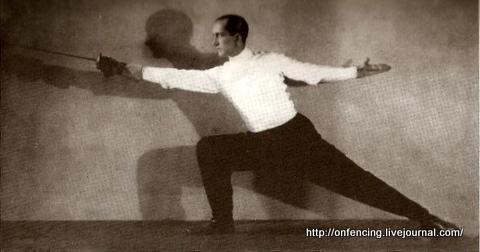 """Алдо Нади. Выпад (Lunge). Из книги """"On Fencing"""", автор Алдо Нади."""