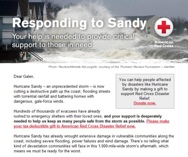 Red Cross Wants Money