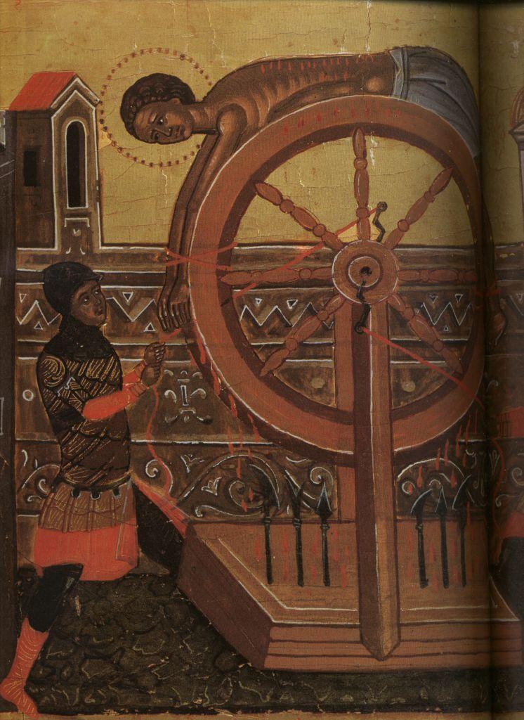 Па.124-1. клеймо Св. Георгий Победоносец в житии(129 на 96)