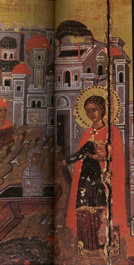 Па.124-2а. клеймо Св. Георгий Победоносец в житии(129 на 96)