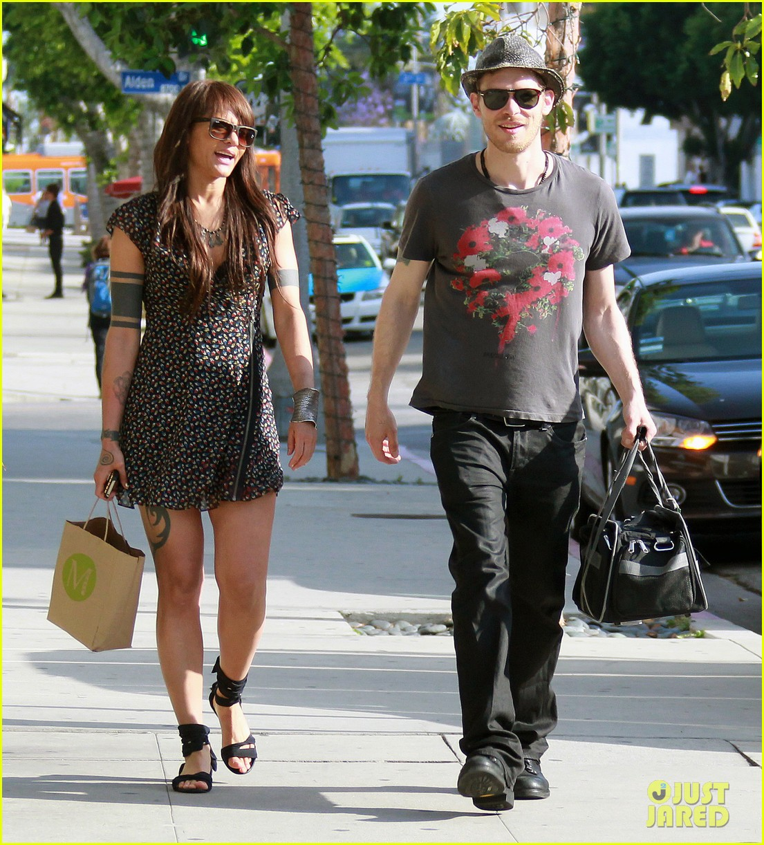 Joseph Morgan Amp Persia White Out And About