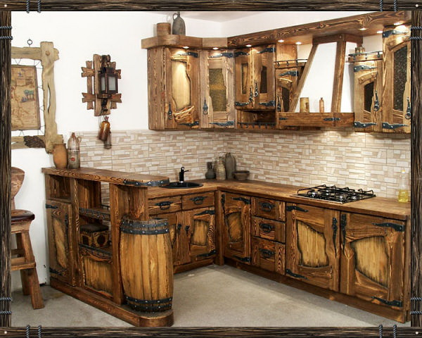 Log kitchen