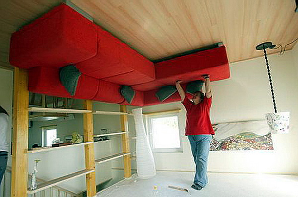 Upside Down House Inside