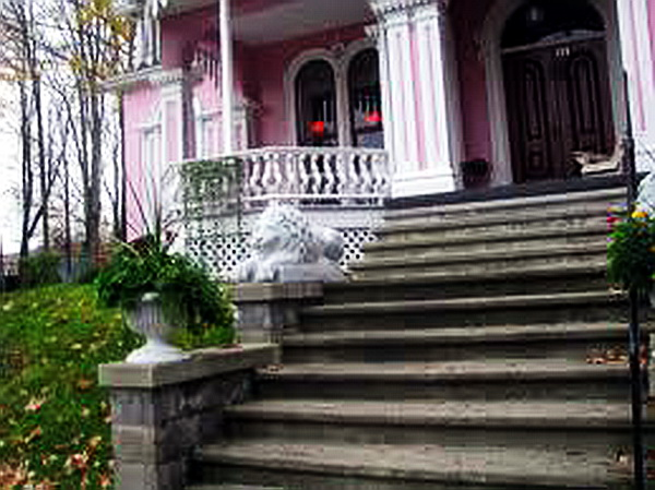 Entrance to the Pink House