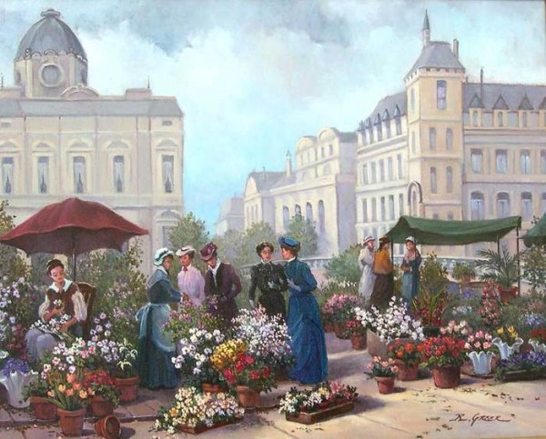 The Flower Sellers, Paris.