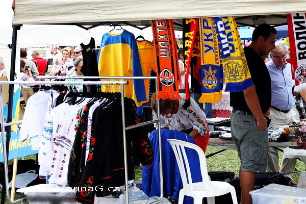 Embroidered Shirts and Ukrainian Scarfs