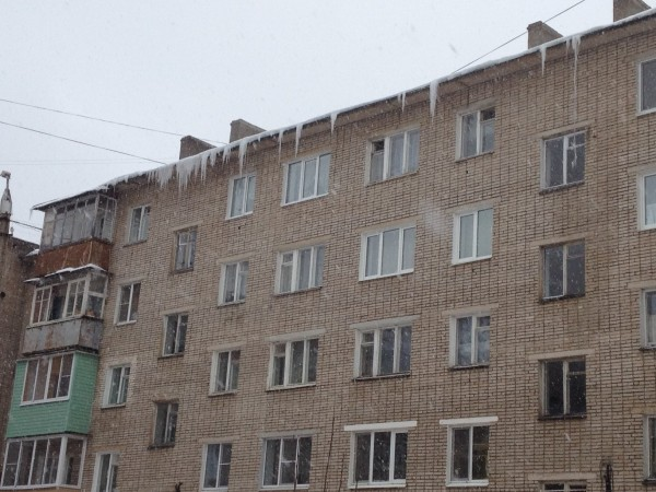 Apartment Building Icicles in Tula, Russia