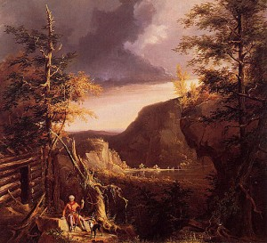 Daniel_Boone_Sitting_at_the_Door_of_His_Cabin_on_the_Great_Osage_Lake_Kentucky_1826